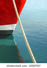 bow of red ship