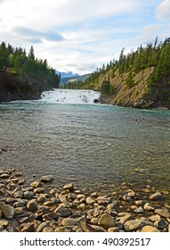 The Bow River Falls in Banff National Park