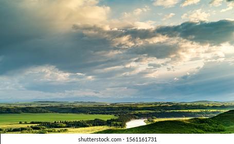 Bow River at Glenbow Ranch Provincial Park near Cochrane, Alberta