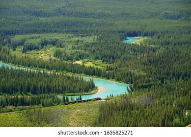 Bow river near Banff, Banff National Park