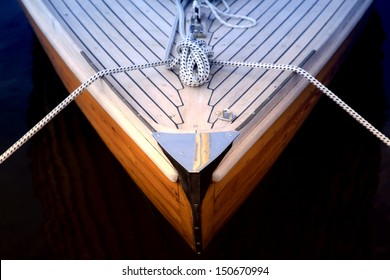 Bow of a sailboat
