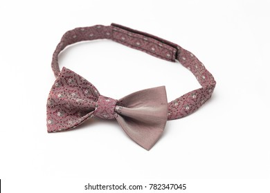bow tie on white background, close up