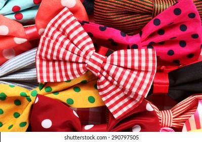 Bow ties pile