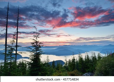 Bowen Lookout at sunset,  Cypress Mountain, Vancouver, BC