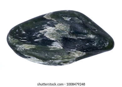 Bowenite small palm stone, known as Maori Greenstone, is a form of serpentinite  from New Zealand