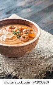 Bowl of Bisque - french soup with crustaceans
