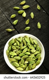 Bowl of  Cardamom (Elachi) – An ancient herbal seed pod- belongs to the family of Zingiberaceae .
