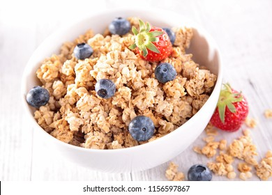 bowl of cereal and blueberry