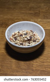 bowl with cereals on table