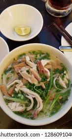 A bowl of chicken pho in Hanoi, Vietnam