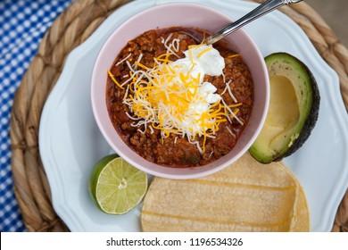 Bowl of chili soup