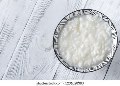 Bowl of congee - Asian rice porridge