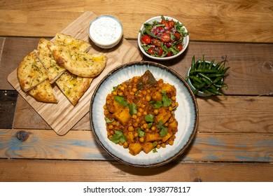 A bowl of the delicious Indian dish Chana Masala