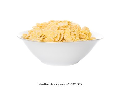Bowl of dried cornflakes