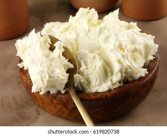 BOWL OF FRESH ITALIAN MASCARPONE CHEESE