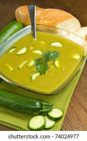 bowl of fresh zucchini