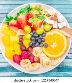 bowl of fruits salad