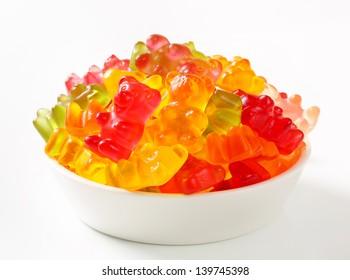 bowl full of gummy bears