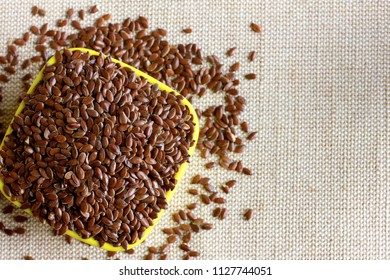 A bowl of healthy flax seeds