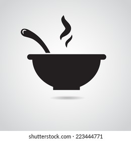 Bowl icon isolated on white background.