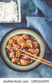 Bowl of Kung Pao chicken