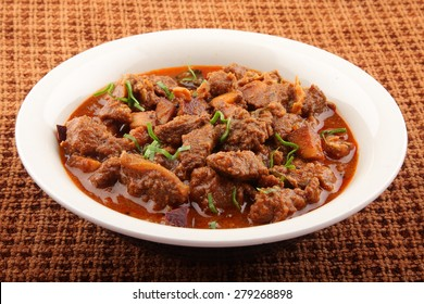 Bowl of lamb curry.