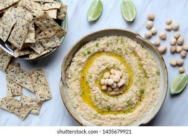 Bowl of macadamia nut humus