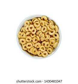 Bowl Of Nestle Whole Grain Cheerios Breakfast Cereals With Honey With No People
