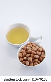 bowl of oil and ground nut