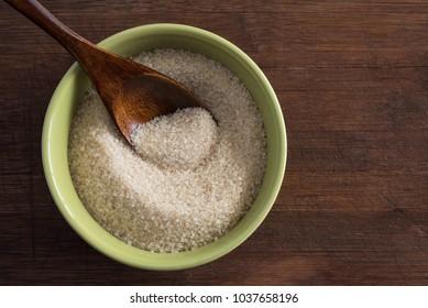 A bowl of organic cane sugar