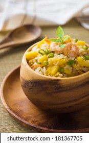 Bowl of pineapple fried rice an excellent side order with chinese food