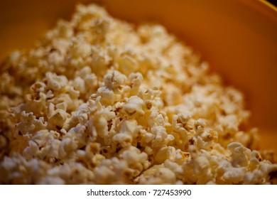 bowl of popcorn close up