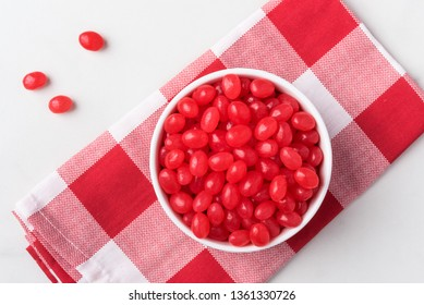 A Bowl of Red Jelly Beans
