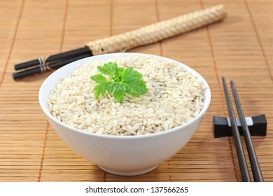 Bowl of rice and chopstick