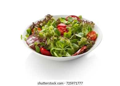 bowl salad with sausage and tomatoes