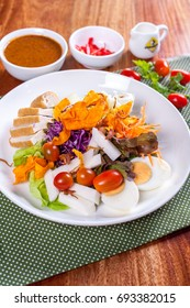 bowl of salad with vegetables and greens