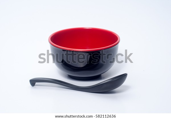 The bowl with spoon