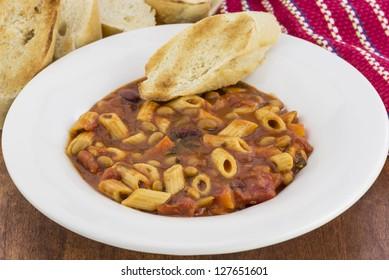 a bowl of traditional Pasta Fagioli