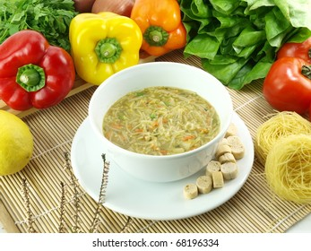 Bowl of vermicelli soup