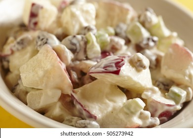 A bowl of Waldorf Salad, an American classic
