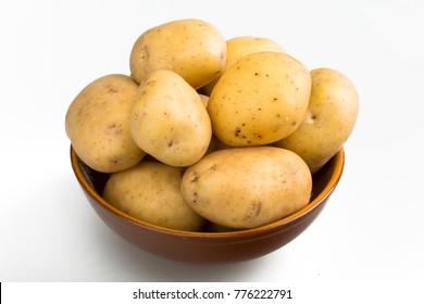 Bowl of Yukon gold potatoes