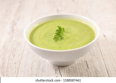 bowl of zucchini soup