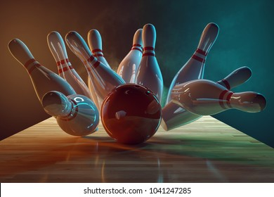 Bowling (3D Rendering)