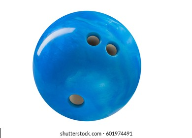 bowling ball blue color isolated on white background