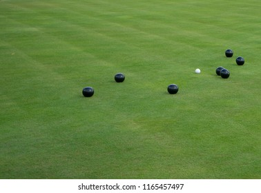 Bowling balls on the green