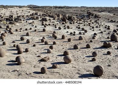 Bowling Field, Ischigualasto National Park, Moon Valley, San Juan, Argentina.  UNESCO world heritage site, and a major touristic destination.