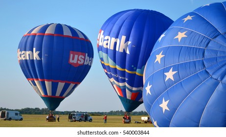 BOWLING GREEN, Kentucky/USA - September 05, 2013 - [Hot-Air Balloon Festival  offers balloon rides and space for ads]