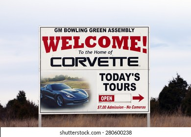 BOWLING GREEN, KY-MAY, 2015:  Home of the Chevrolet Corvette assembly plant in Bowling Green, KY.  This is the only Corvette plant in the world.
