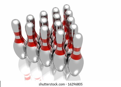 Bowling on the white background