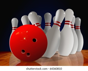 bowling pin down